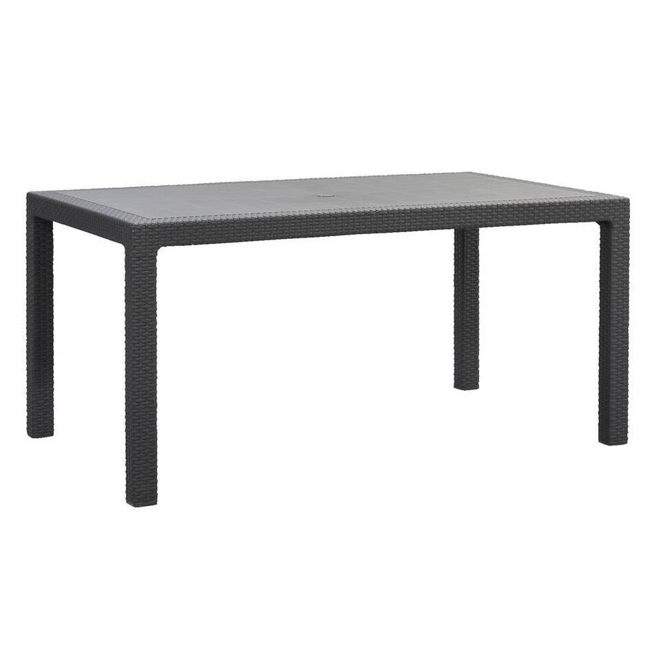 Keter tafel Melody - grijs - 160x94,5x74,5 cm - Leen Bakker