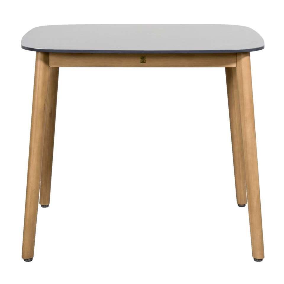 Le Sud tafel Abruzzo - bruin/grijs - 90x90x74 cm - Leen Bakker