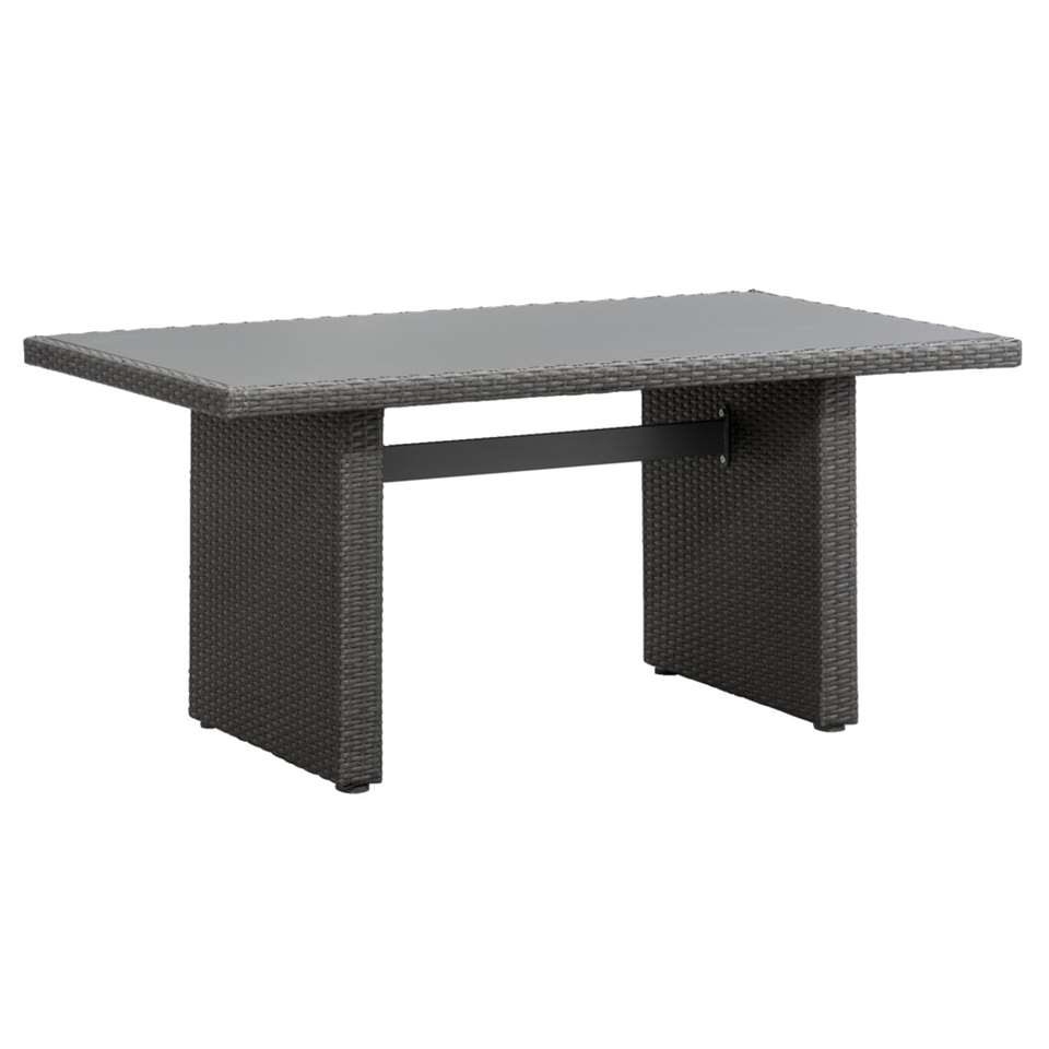Le Sud tafel Lecce - grijs - 145x84x66 cm - Leen Bakker