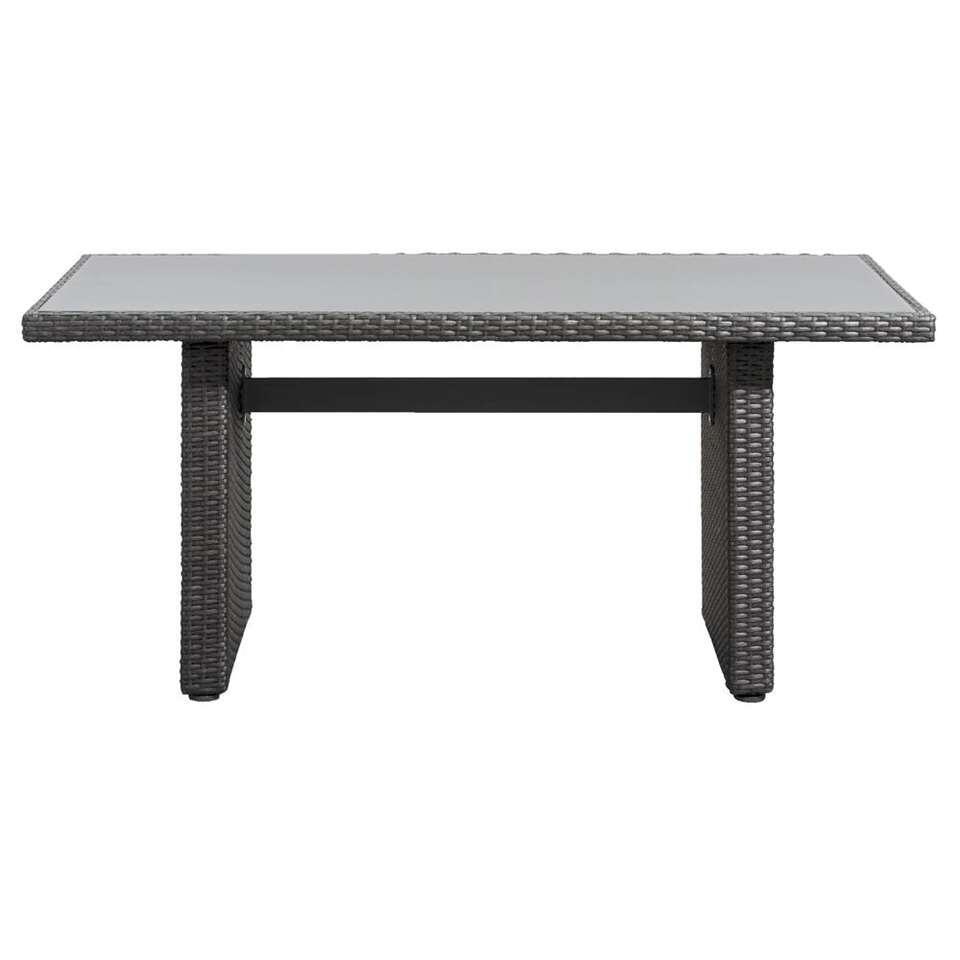 Le Sud tafel Ancona - antraciet - 145x85x66 cm - Leen Bakker