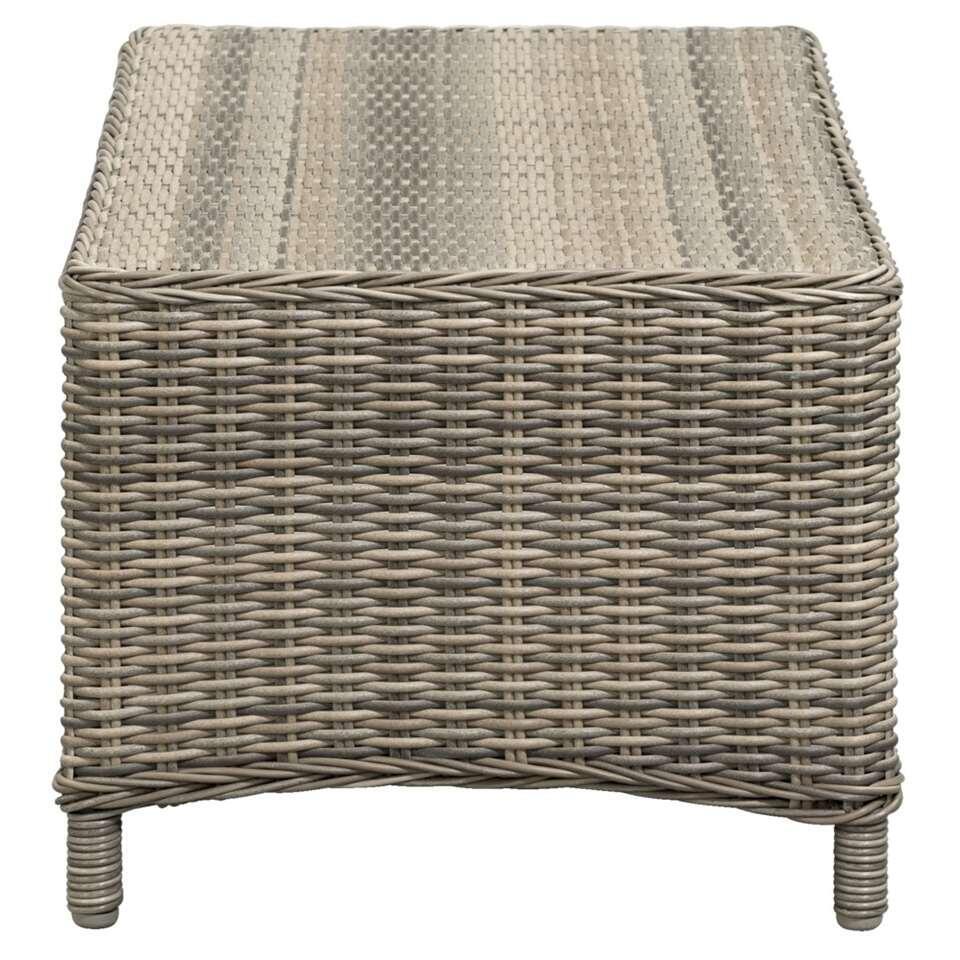 Le Sud loungetafel Verona - kubu grijs - 100x50x42 cm - Leen Bakker