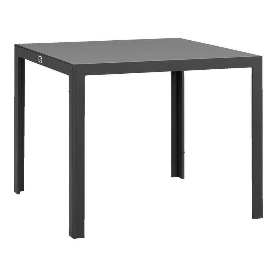 Le Sud tafel Savoie - grijs - 90x90x75 cm - Leen Bakker