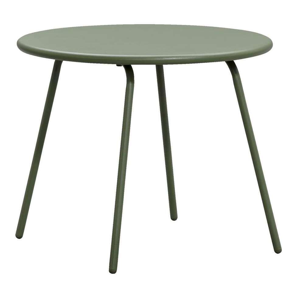 Bijzettafel Vilanova - olijfgroen - 60xØ70 cm - Leen Bakker