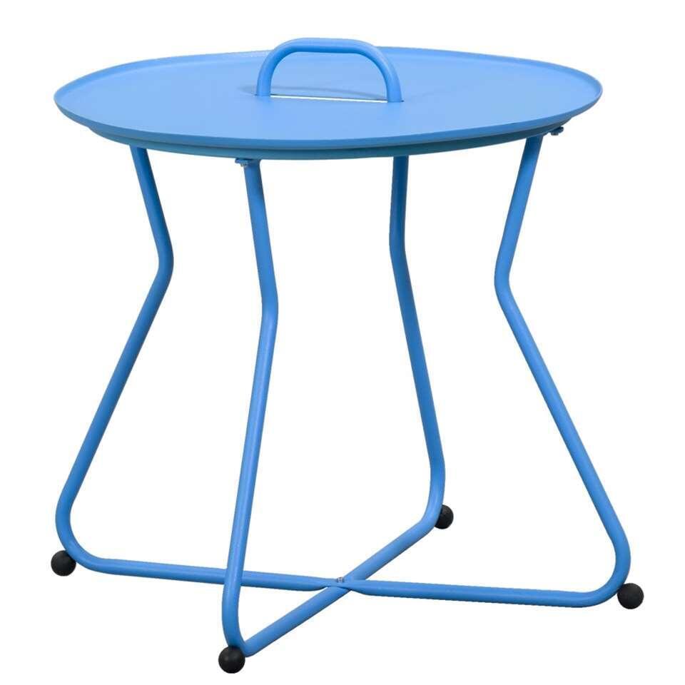 Bijzettafel Boa Vista - blauw - Ø55x50 cm - Leen Bakker