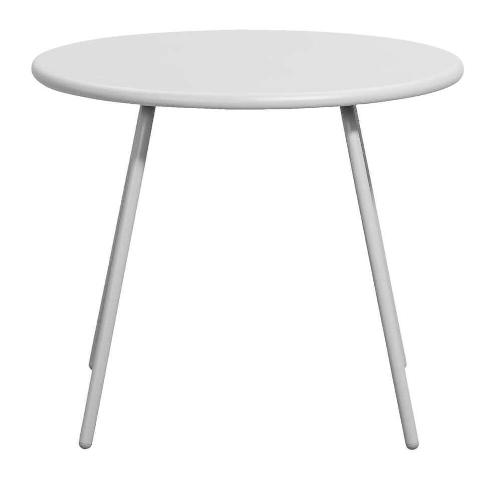 Bijzettafel Vilanova - grijs - Ø60x50 cm - Leen Bakker