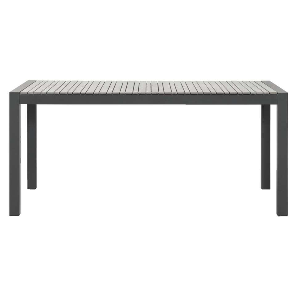 Le Sud tafel Barcelona - mat grijs - 168x88x74 cm - Leen Bakker