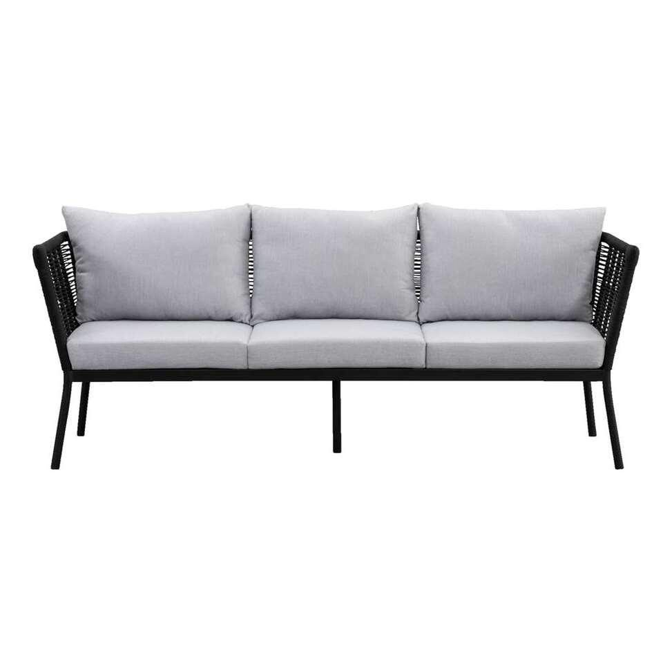 Le Sud loungezetel Viviers 3-zits - mat zwart - Leen Bakker