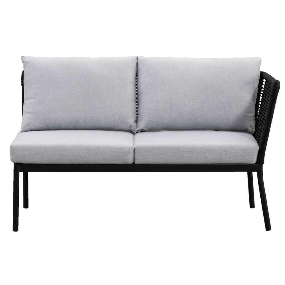 Le Sud loungezetel Viviers 2-zits - mat zwart - 69x133x75 cm - Leen Bakker