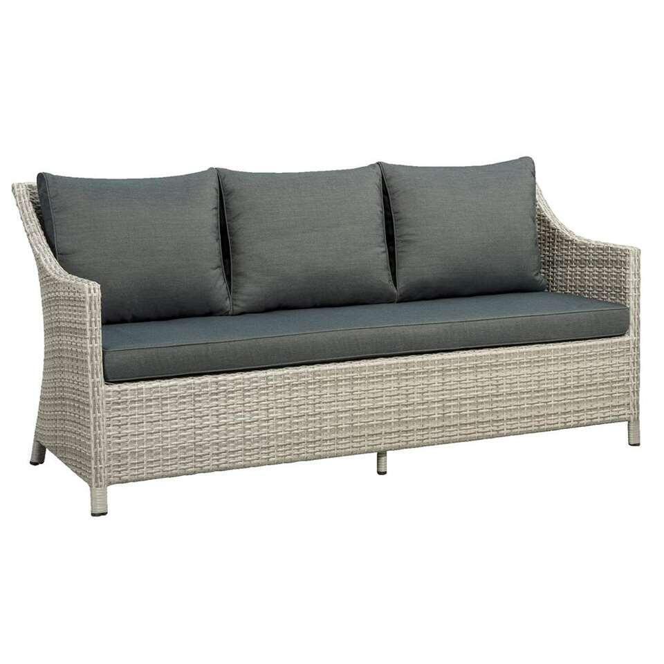 Loungezetel Ronda 3-zits (inclusief kussens) - grijs - 83x185x69 cm - Leen Bakker
