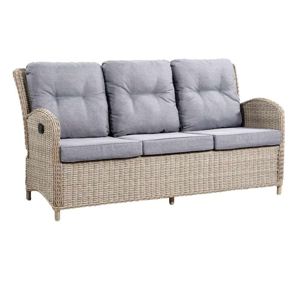 Le Sud canapé lounge réglable Verona 3 places - gris