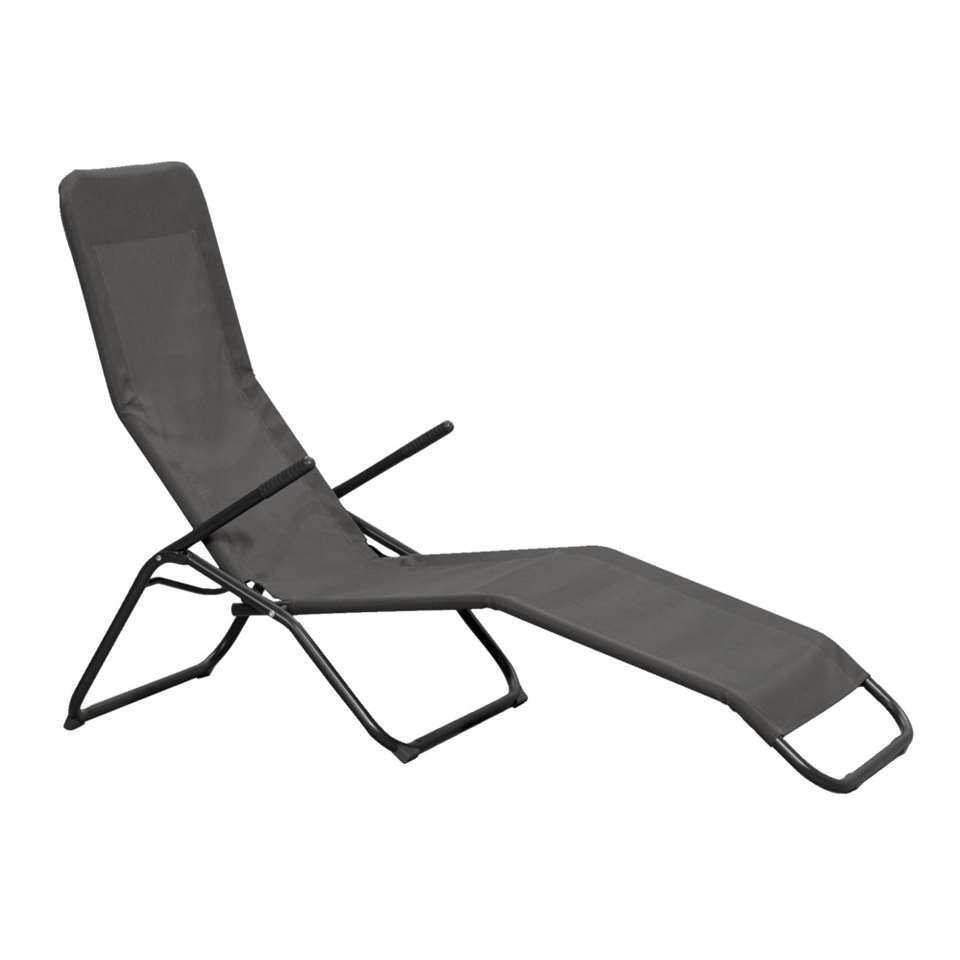 lit bain de soleil parma anthracite. Black Bedroom Furniture Sets. Home Design Ideas