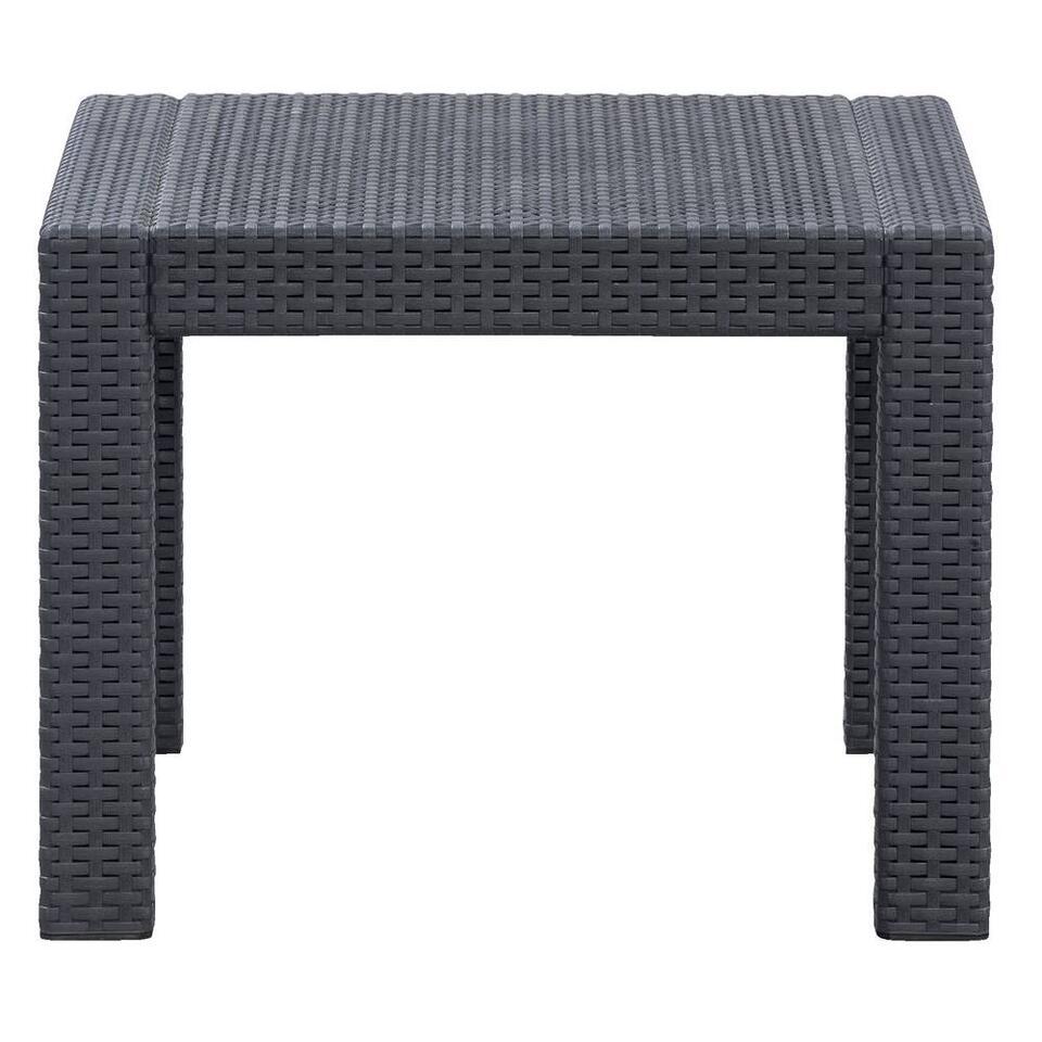 Allibert salon lounge Messina - gris - 4 pièces (coussins inclus)