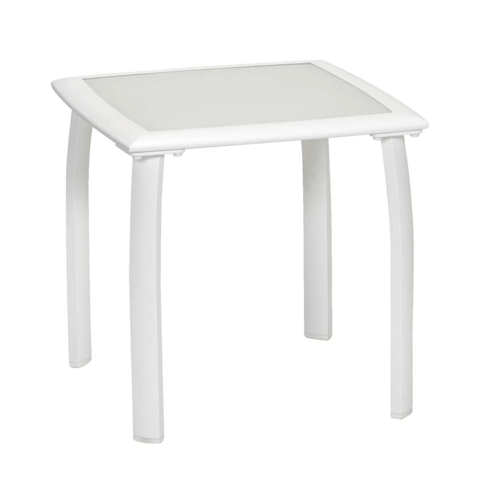 Table d'appoint Tivoli - blanc -50x50x48 cm