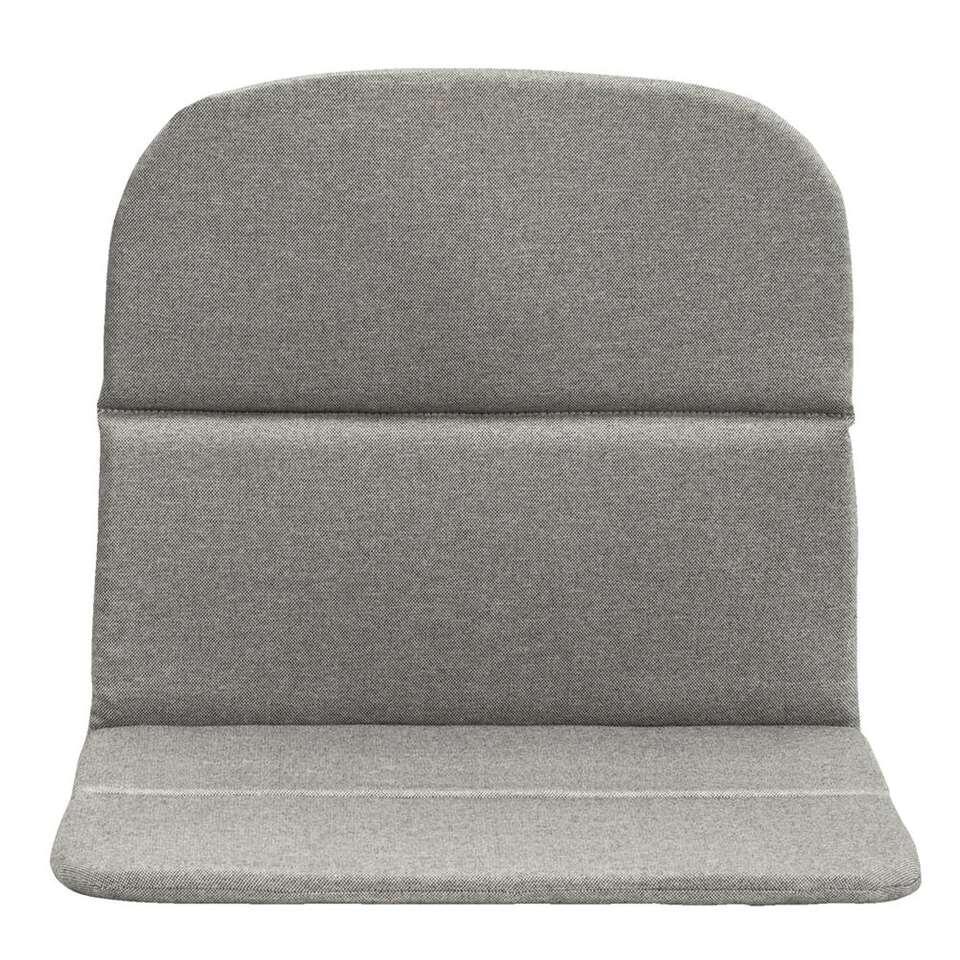 Kussen loungestoel Menorca - grijs - 55x45x5 cm - Leen Bakker