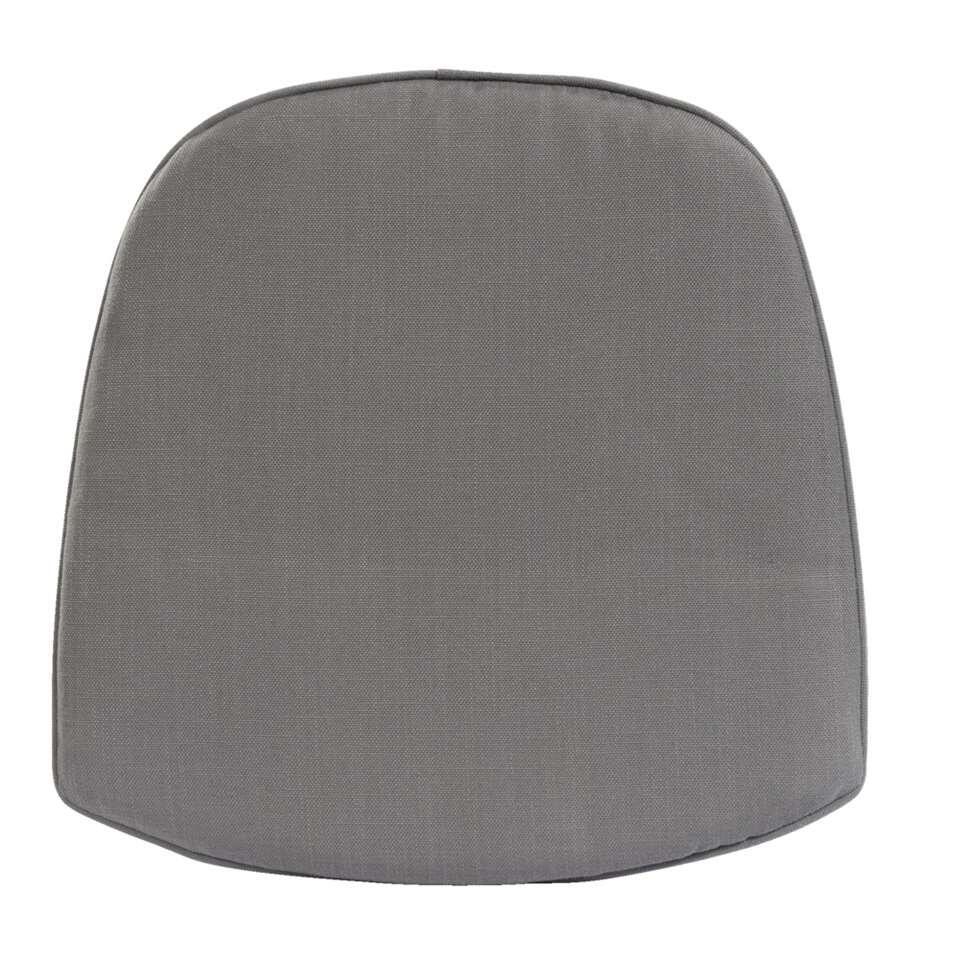 Kussen kuipstoel Abruzzo wicker - grijs - 45x44x2,5 cm - Leen Bakker