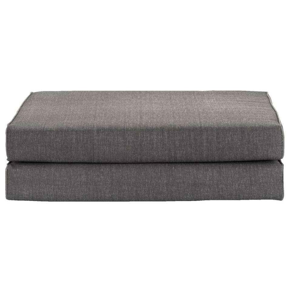 Kussenset Porto - grijs - 54x54x8 cm (2 stuks) - Leen Bakker