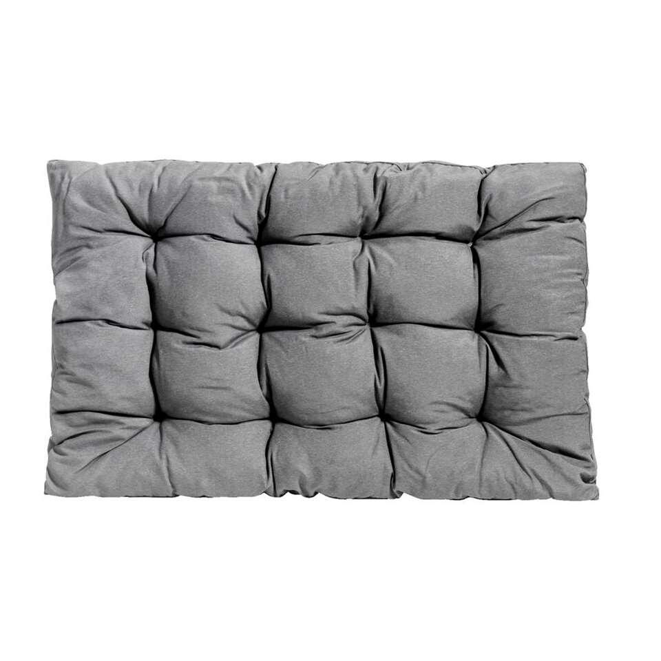 Loungekussen Florence - grijs - 120x80 cm - Leen Bakker