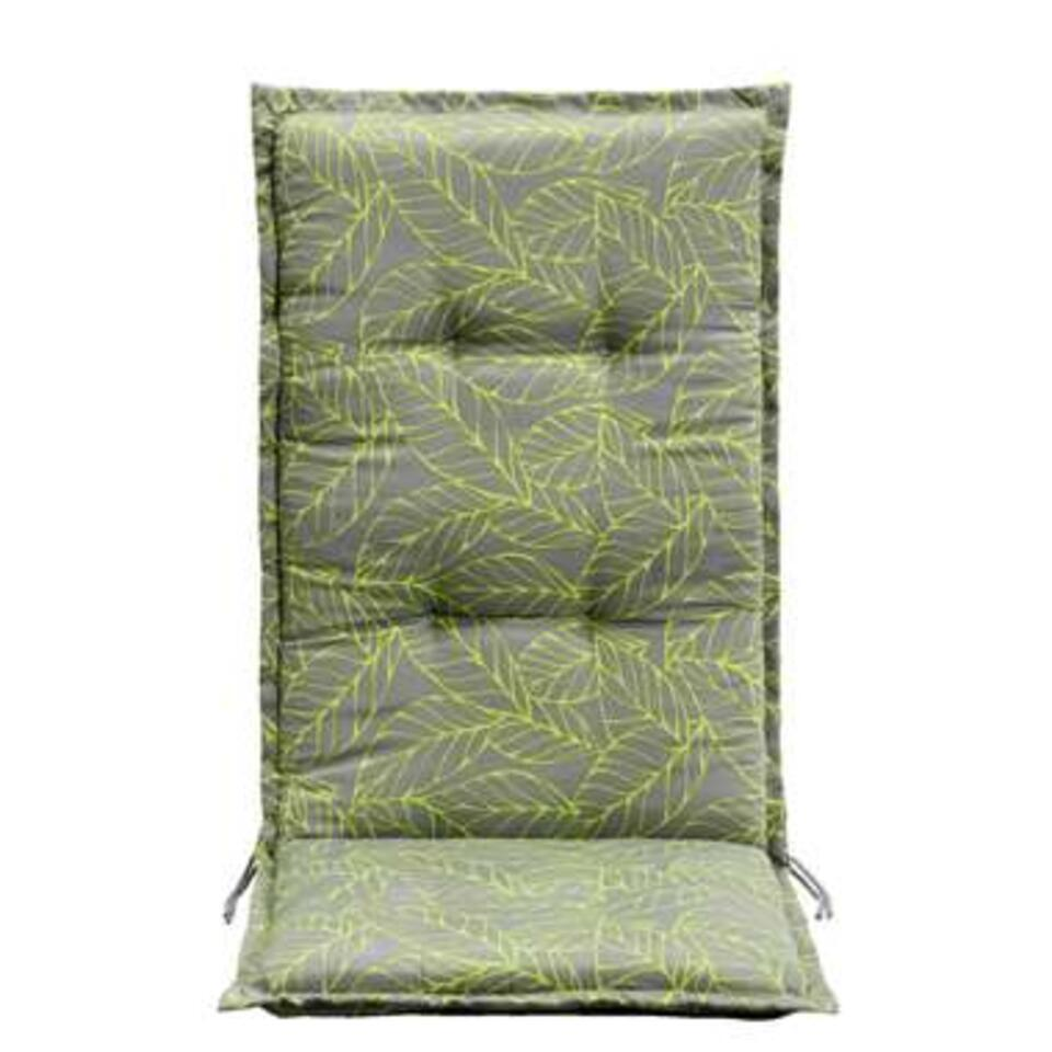 Le Sud terrasstoelkussen Leaf - grijs/groen - 123x50x5 cm