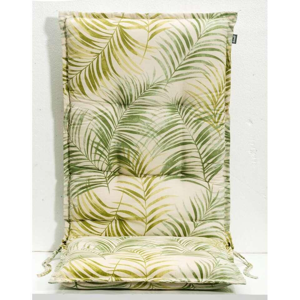 Le Sud terrasstoelkussen Palm Springs - groen - 123x50x8 cm - Leen Bakker