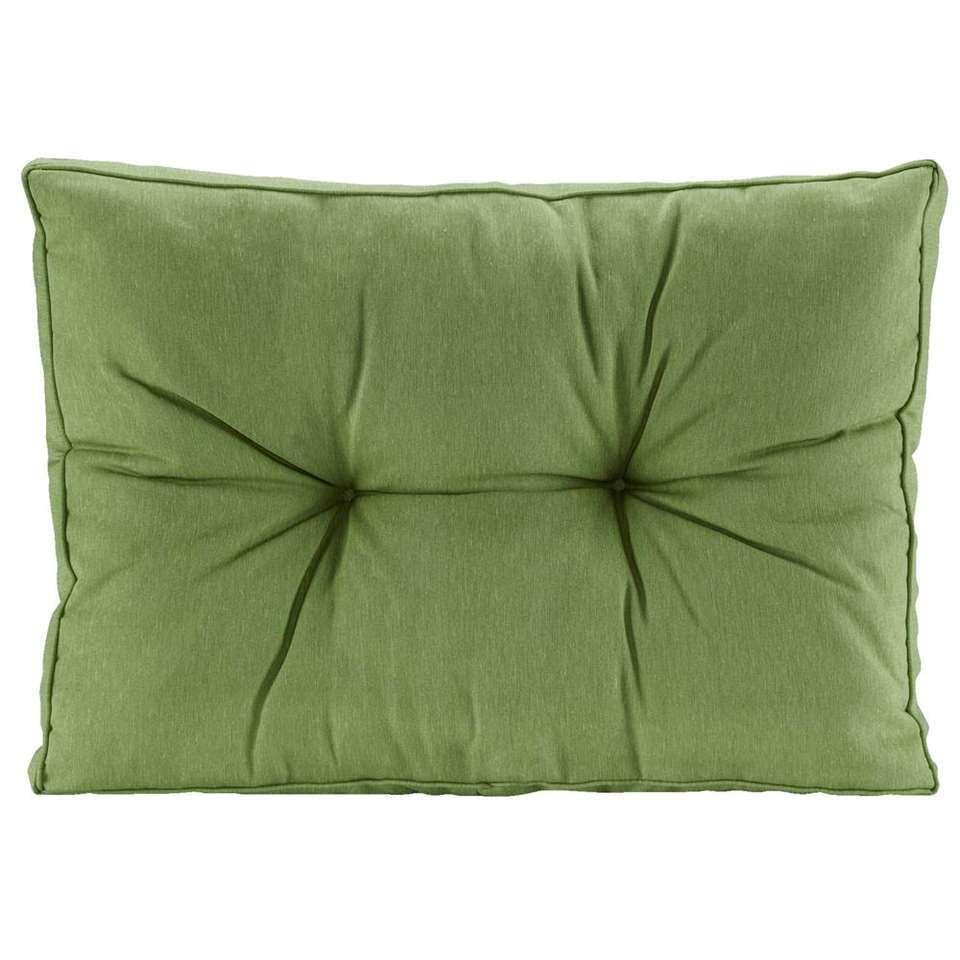 Loungekussen Florence rug - groen - 60x43 cm - Leen Bakker