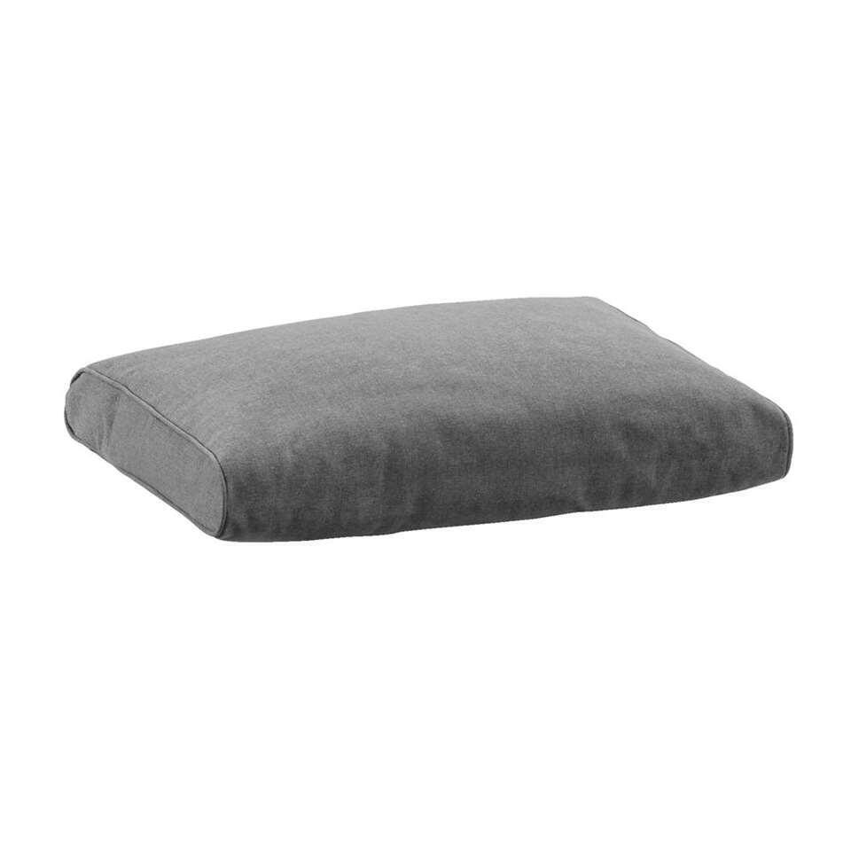 Le Sud loungekussen rug Provence - grijs - 60x43 cm - Leen Bakker