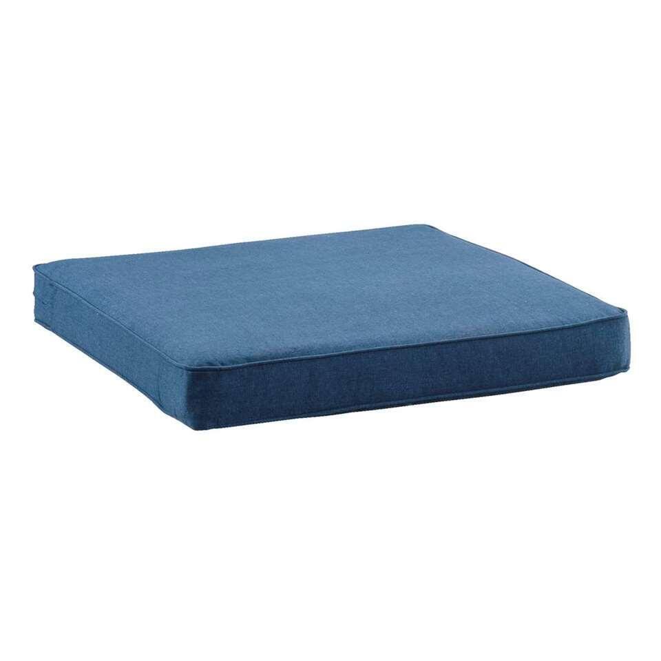 Le Sud loungekussen Provence - blauw - 60x60 cm - Leen Bakker