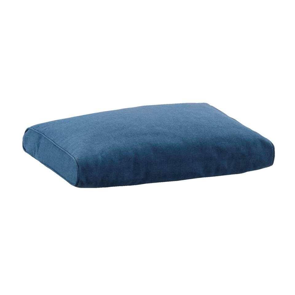 Le Sud loungekussen rug Provence - blauw - 60x43 cm - Leen Bakker