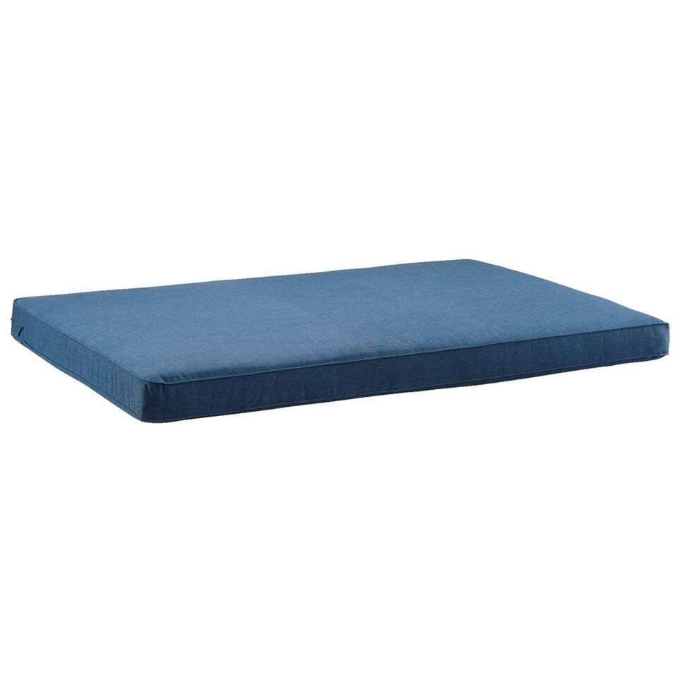 Le Sud palletkussen Provence - blauw - 120x80 cm - Leen Bakker