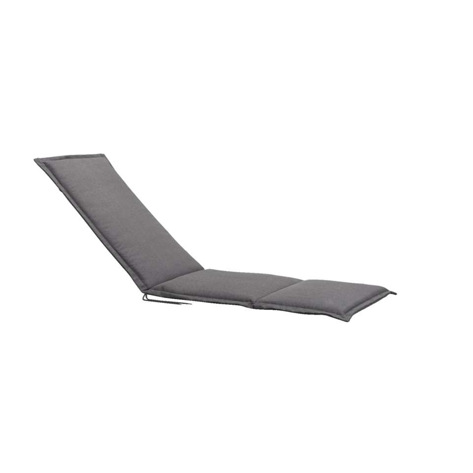 Relaxfauteuilkussen Cannes - grijs - 164x52x4 cm - Leen Bakker