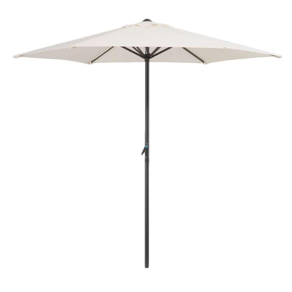 Parasol Blanca - antraciet/ecru - Ø250 cm - Leen Bakker
