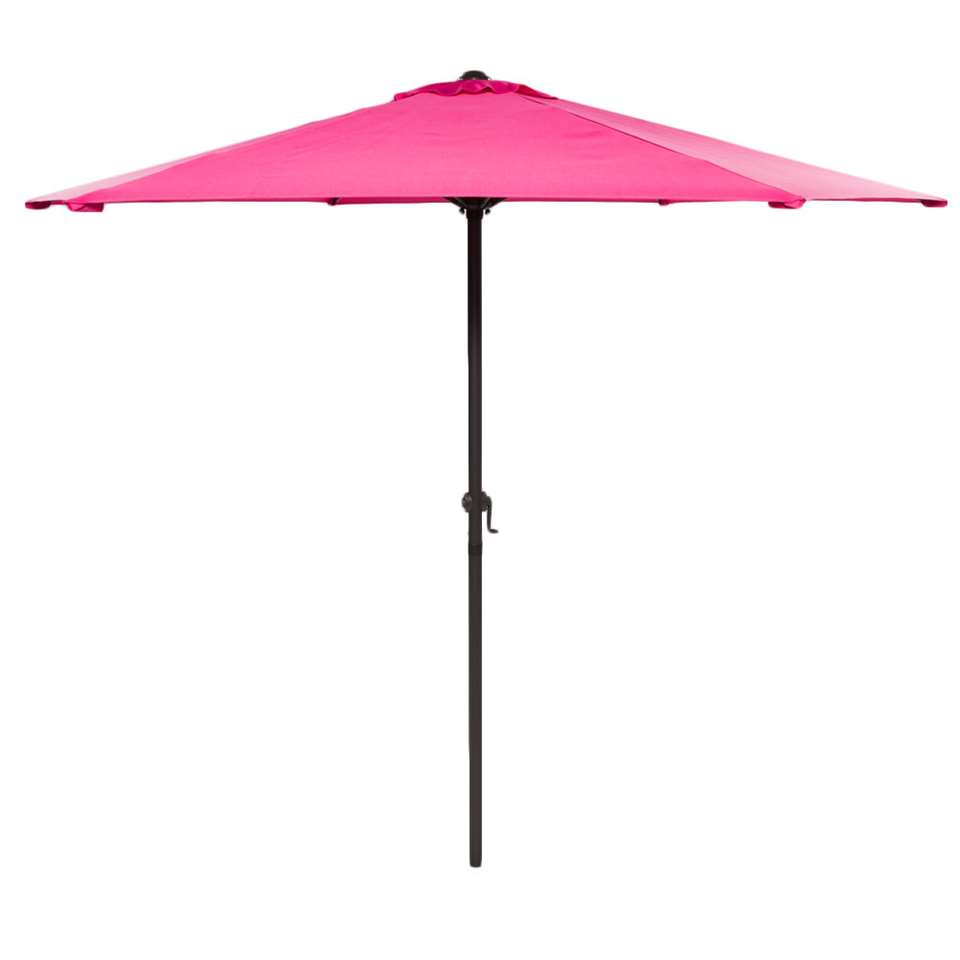 Parasol Blanca - antraciet/fuchsia - Ø250 cm - Leen Bakker