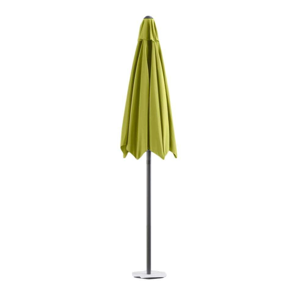 Parasol Blanca - antraciet/lime - Ø250 cm - Leen Bakker