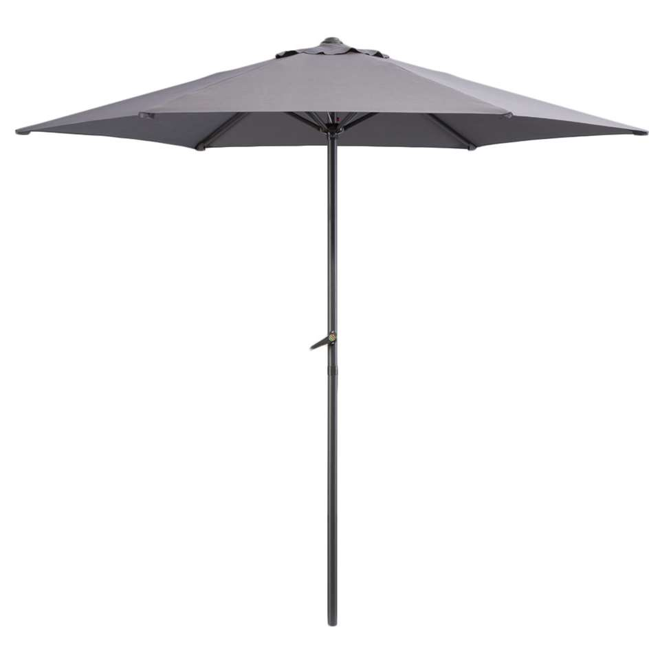 Le Sud parasol Blanca - antraciet - Ø250 cm - Leen Bakker