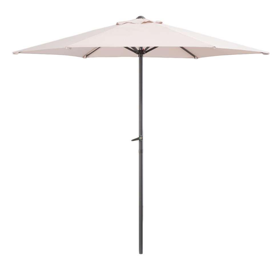 Le Sud parasol Blanca - antraciet/taupe - Ø250 cm - Leen Bakker