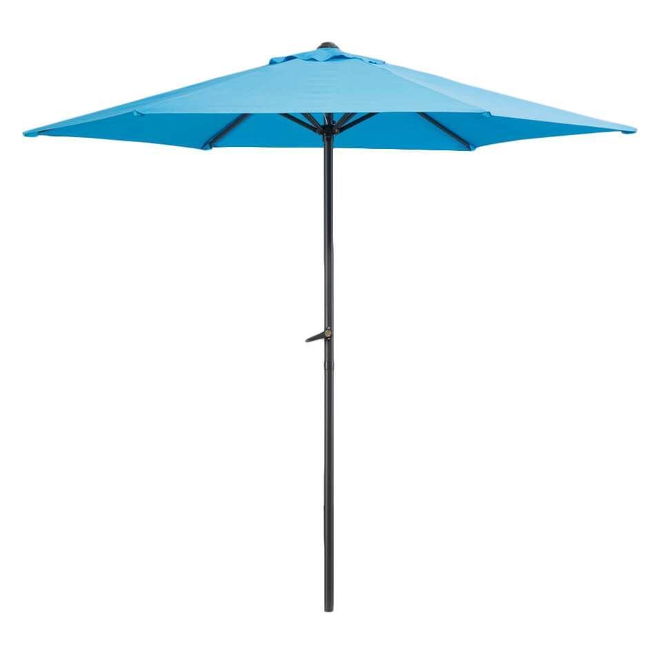 Le Sud parasol Blanca - antraciet/aqua - Ø250 cm - Leen Bakker