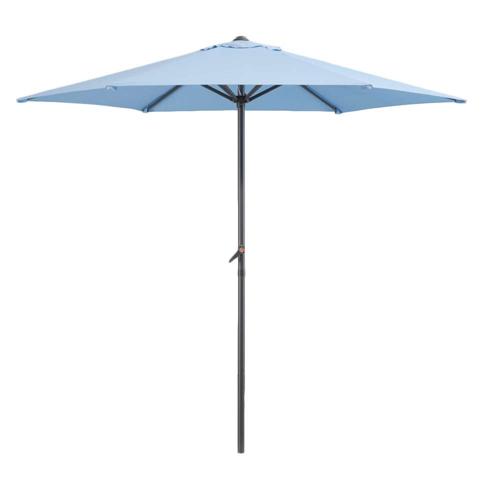 Le Sud parasol Blanca - antraciet/blauw - Ø250 cm - Leen Bakker