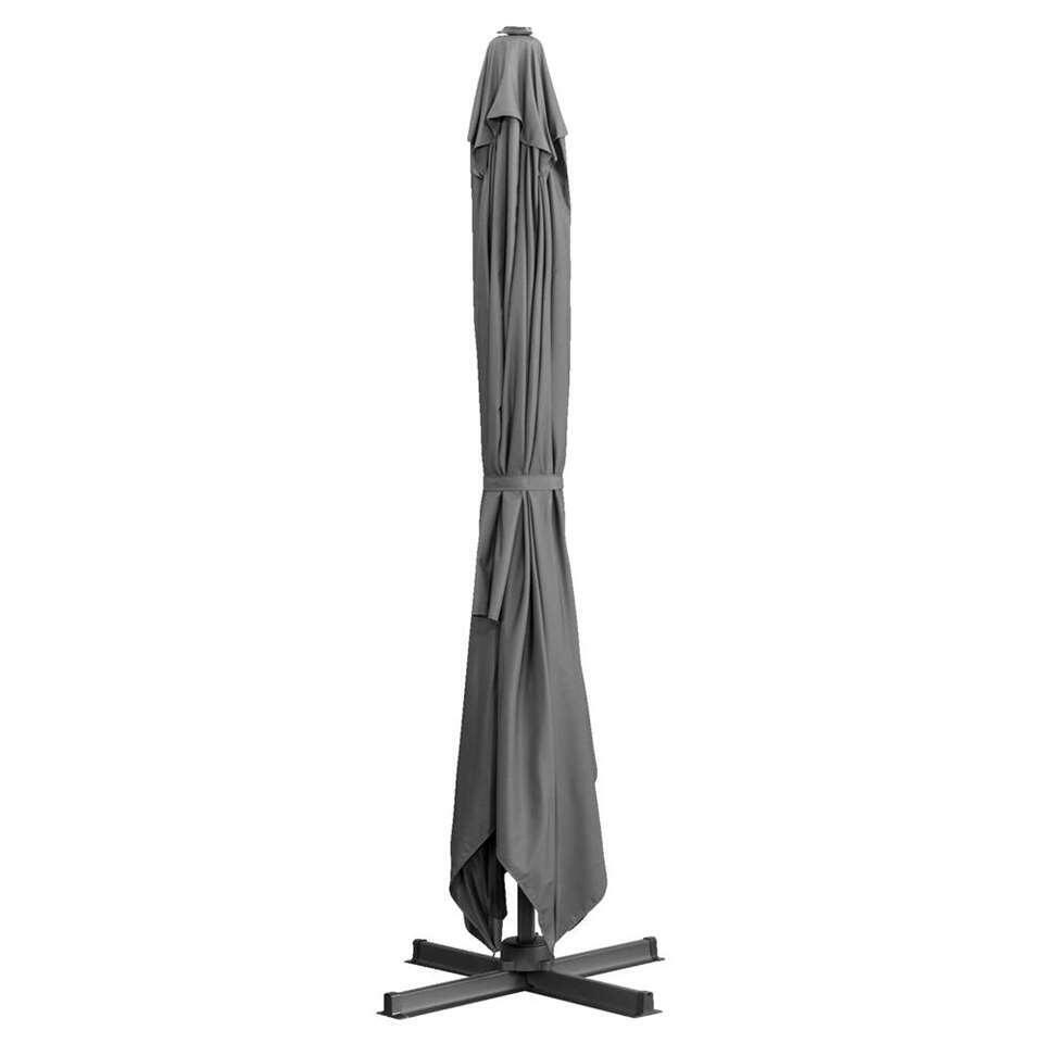 Le Sud freepole parasol Monaco - antraciet - 300x400 cm - Leen Bakker