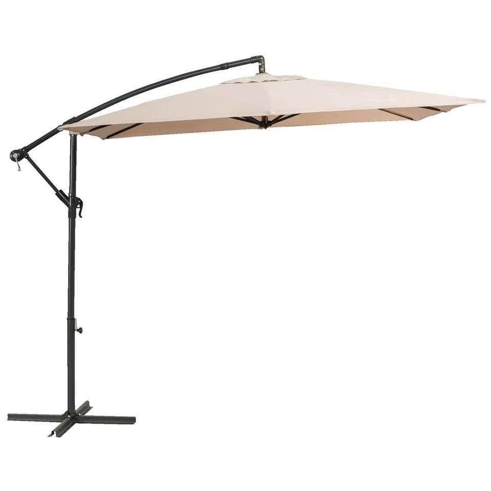 Le Sud freepole parasol Brava - antraciet/taupe - Ø250 cm - Leen Bakker