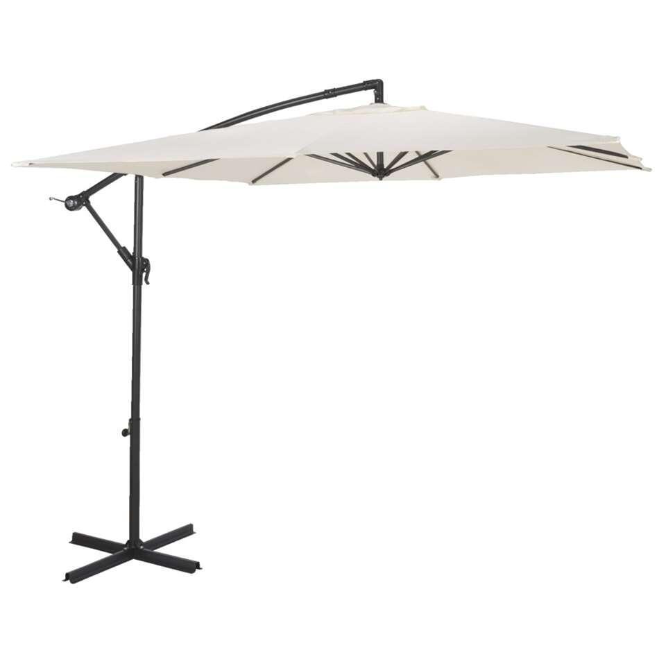 Le Sud freepole parasol Brava - antraciet/ecru - 250x250 cm - Leen Bakker