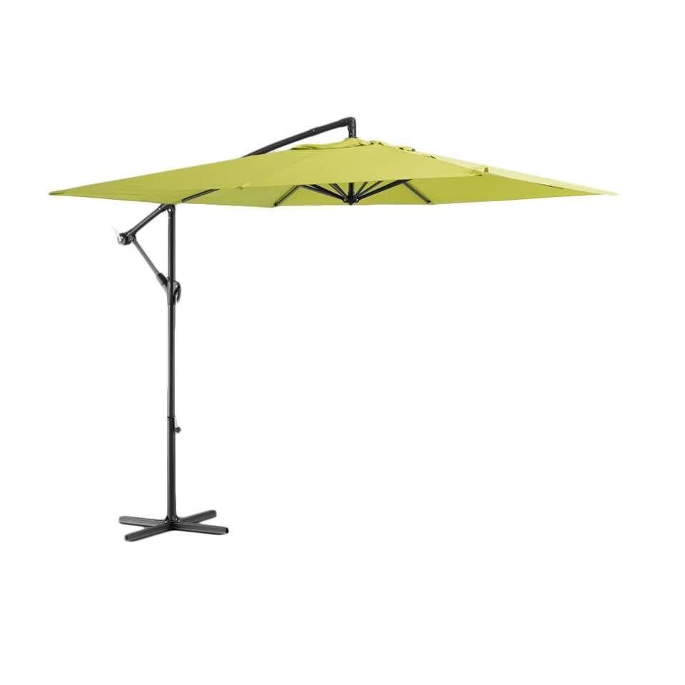 Le Sud freepole parasol Brava - lime - Ø250 cm - Leen Bakker