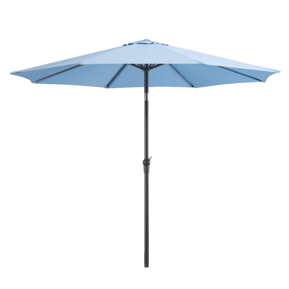 Le Sud parasol Dorado met tilt - blauw - Ø300 cm - Leen Bakker