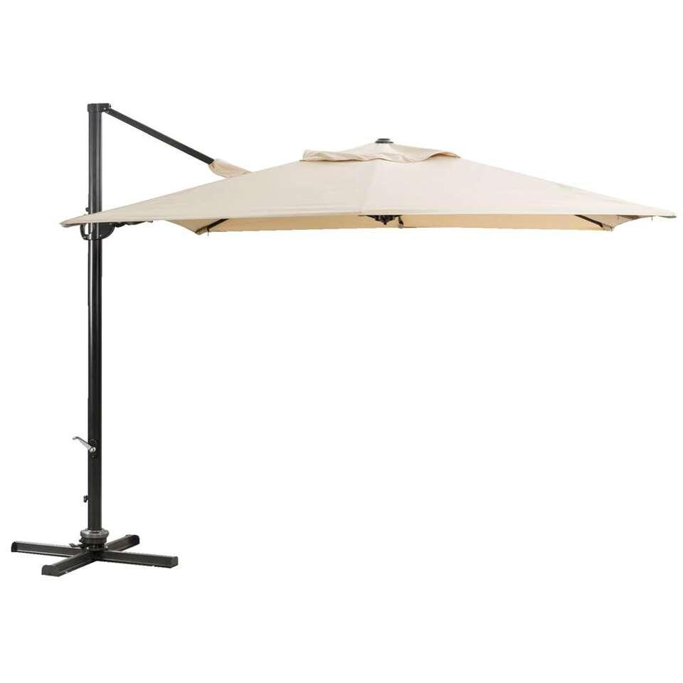 Freepole parasol Roma - beige - 300x300 cm - Leen Bakker
