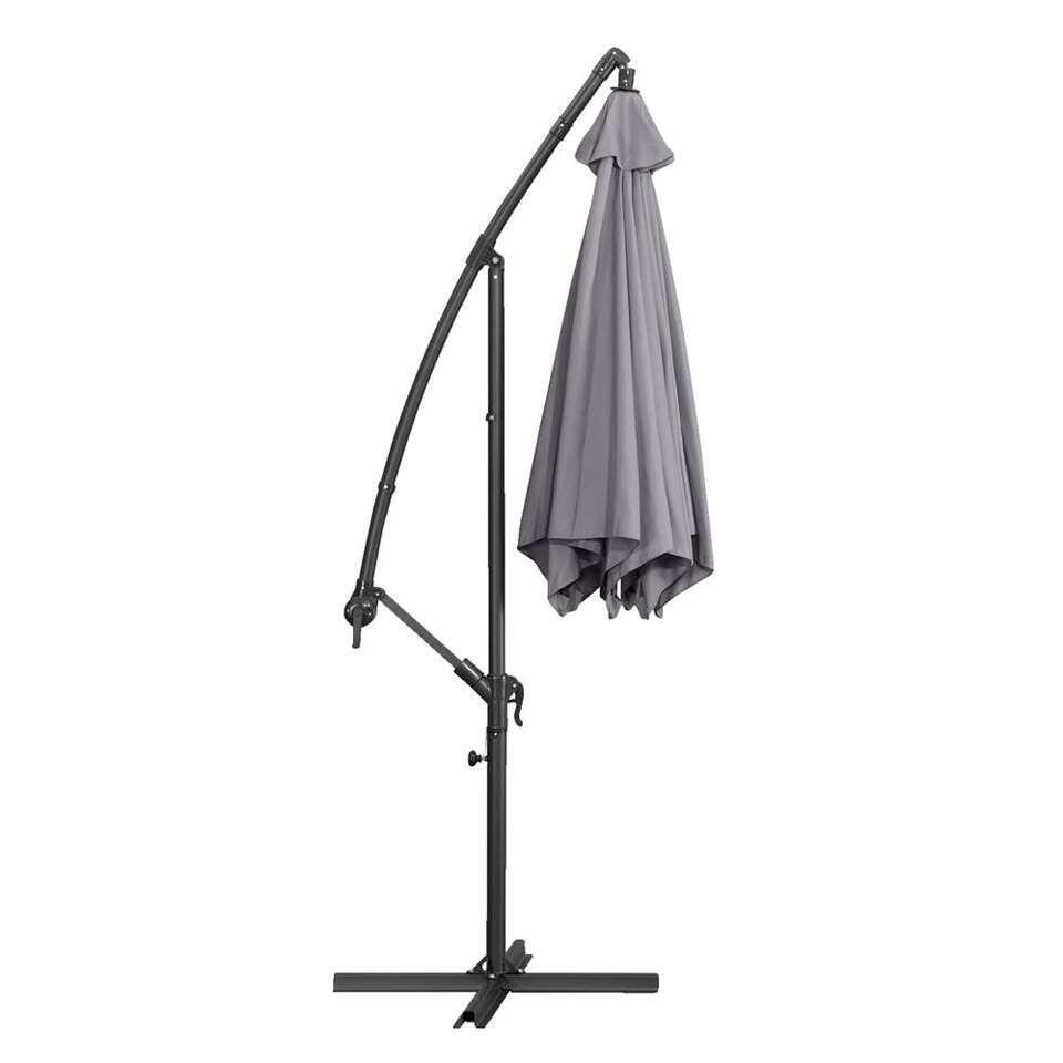 Le Sud freepole parasol Brava - antraciet - Ø300 cm - Leen Bakker