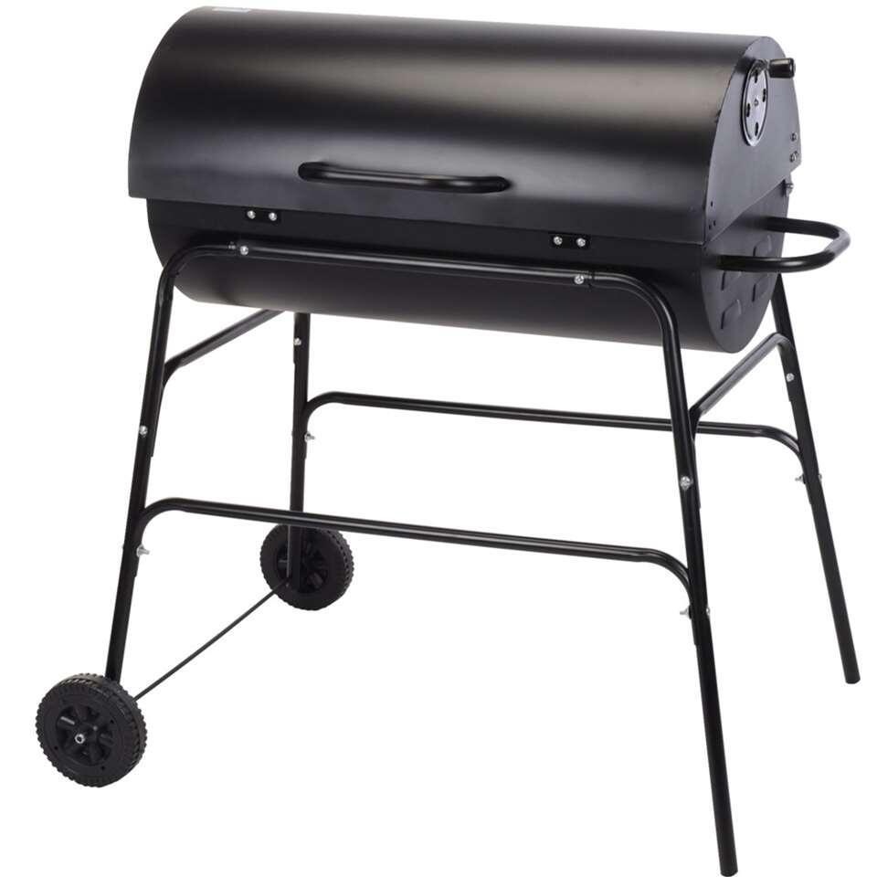 Barbecue Salvador op wielen - cilindervorm - Leen Bakker