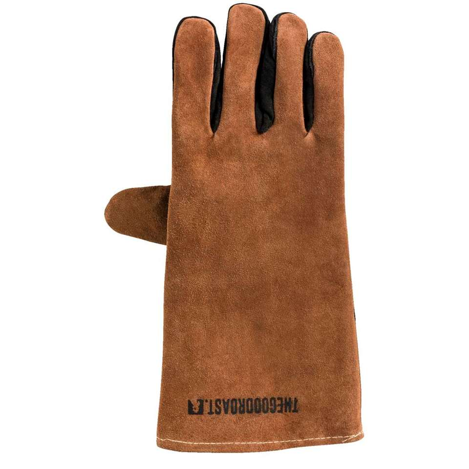 BBQ-handschoen The Good Roast - bruin - 36x19 cm - Leen Bakker