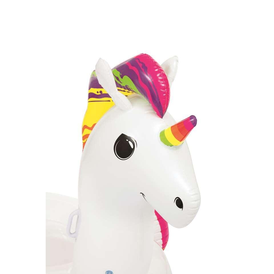 Ride on Eenhoorn - wit/veelkleurig - 233x156x136,5 cm - Leen Bakker