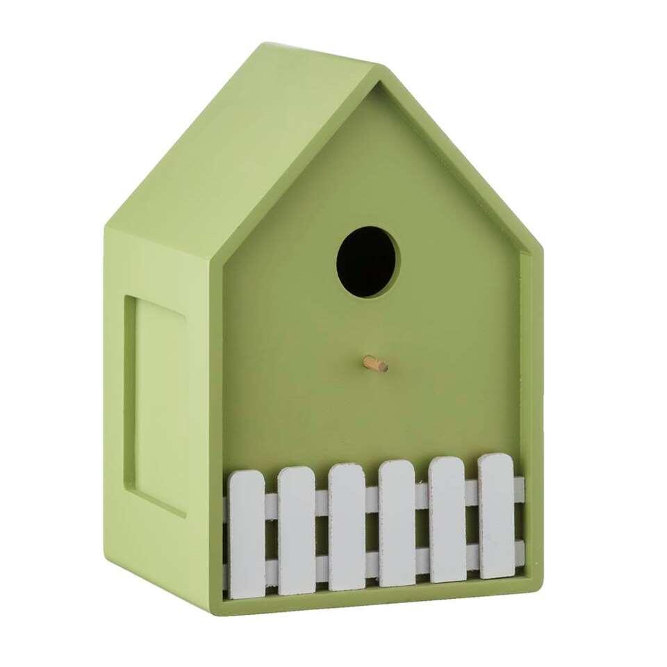 Vogelkooi Bob - groen - 11x21,5x15 cm - Leen Bakker