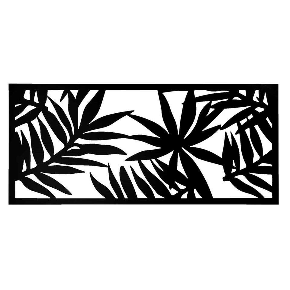 Wanddecoratie Palmblad - zwart - 118x54 cm - Leen Bakker