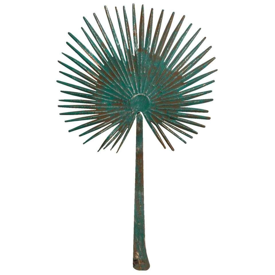 Wanddecoratie Palmblad - groen - 82x46 cm - Leen Bakker