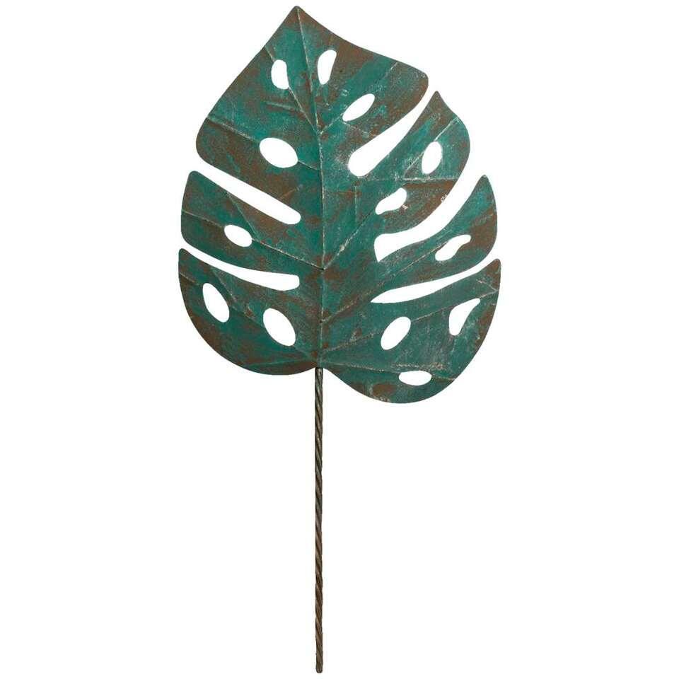 Wanddecoratie Monsterablad - groen - 104x47 cm - Leen Bakker